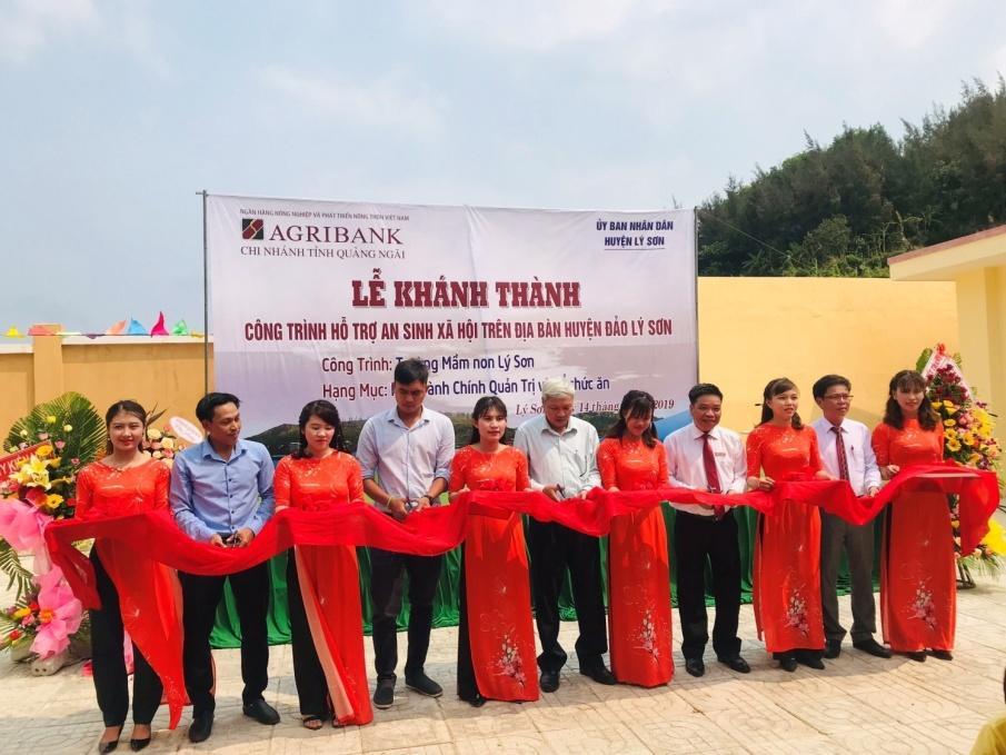 Khánh thành Trường mầm non tại huyện đảo Lý Sơn do Agribank tài trợ kinh phí - Ảnh 1