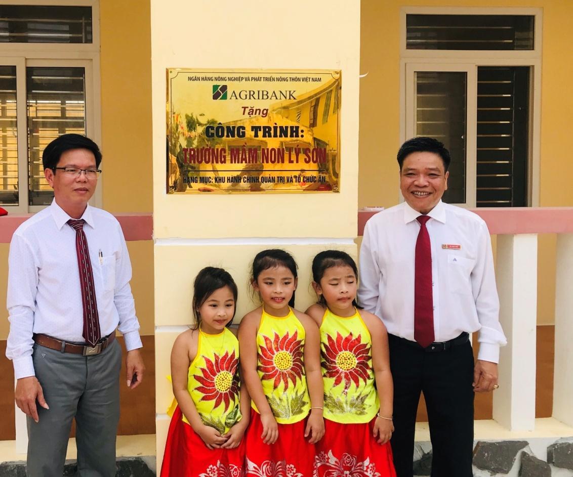 Khánh thành Trường mầm non tại huyện đảo Lý Sơn do Agribank tài trợ kinh phí - Ảnh 2