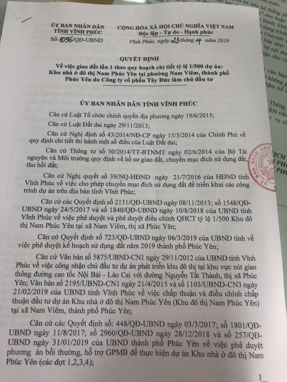 Dự án KĐT Nam Phúc Yên: Sai phạm vẫn tiếp diễn - Ảnh 1