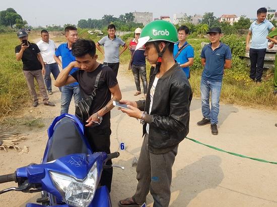 Thực nghiệm hiện trường vụ nam sinh chạy Grab bị sát hại ở Hà Nội - Ảnh 1