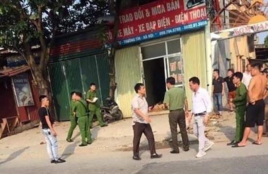 Vụ nam thanh niên bị chém tử vong ở tiệm cầm đồ tại Hà Nội: Danh tính các nghi phạm - Ảnh 1
