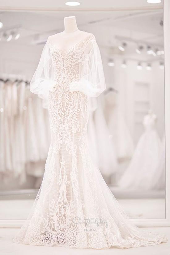 Những điểm đặc biệt bất ngờ của 3 chiếc váy Bảo Thy diện trong ngày cưới - Ảnh 5
