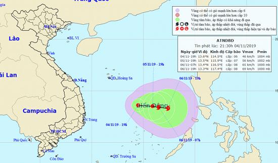 Xuất hiện áp thấp nhiệt đới trên biển Đông, diễn biến phức tạp - Ảnh 1
