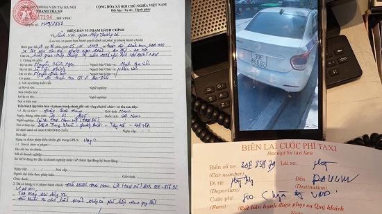 """Tài xế taxi """"chạt chém"""" khách Tây bị tước GPLX, phạt gần 5 triệu đồng - Ảnh 1"""