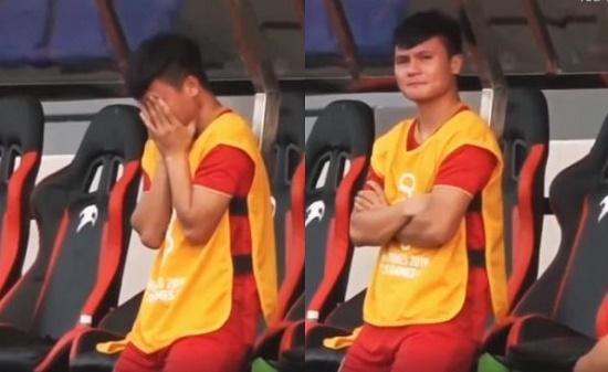 Giọt nước mắt của Quang Hải trên băng ghế dự bị khi đội nhà bị dẫn trước - Ảnh 1