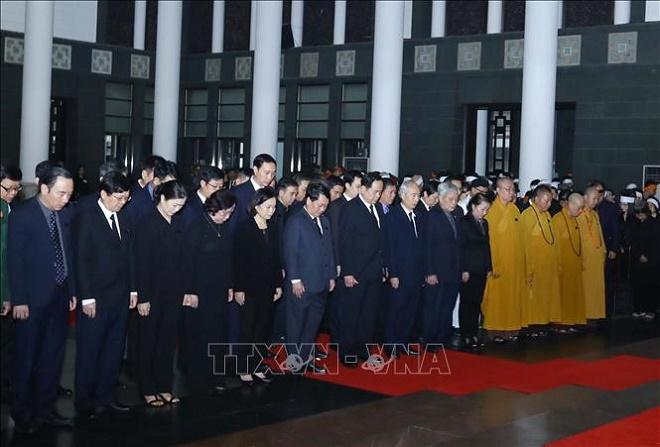 Cử hành trọng thể Lễ Quốc tang nguyên Chủ tịch nước, Đại tướng Lê Đức Anh - Ảnh 10