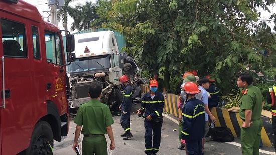 Vụ container tông nát ô tô tại Tây Ninh: Số nạn nhân tử vong tăng lên 5 người - Ảnh 5