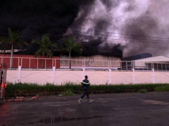 Long An: Cháy lớn, khói đen bốc lên ngùn ngụt tại công ty sản xuất vỏ cơm hộp, thiệt hại gần 30 tỉ đồng - Ảnh 2