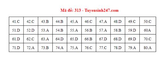 Đáp án đề thi môn Địa lý THPT quốc gia tất cả các mã đề chuẩn nhất, chính xác nhất (cập nhật) - Ảnh 13