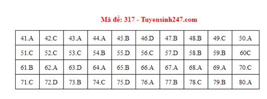 Đáp án đề thi môn Địa lý THPT quốc gia tất cả các mã đề chuẩn nhất, chính xác nhất (cập nhật) - Ảnh 17