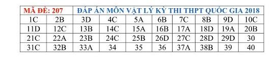 Đáp án đề thi môn Vật lý tất cả các mã đề THPT quốc gia 2019 chuẩn nhất, chính xác nhất (cập nhật) - Ảnh 3