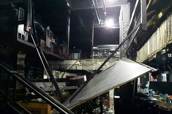 Sập hộp đêm tại Hàn Quốc, nhiều người thương vong - Ảnh 1