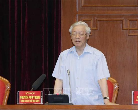 Tổng Bí thư, Chủ tịch nước Nguyễn Phú Trọng gặp mặt đảng viên trẻ tiêu biểu làm theo lời Bác - Ảnh 1