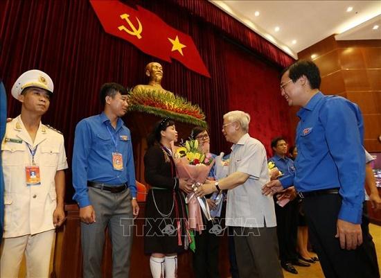 Tổng Bí thư, Chủ tịch nước Nguyễn Phú Trọng gặp mặt đảng viên trẻ tiêu biểu làm theo lời Bác - Ảnh 3