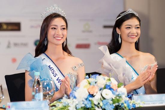 Hoa hậu Lương Thùy Linh xuất hiện rạng rỡ cùng dàn á hậu sau đêm đăng quang - Ảnh 4
