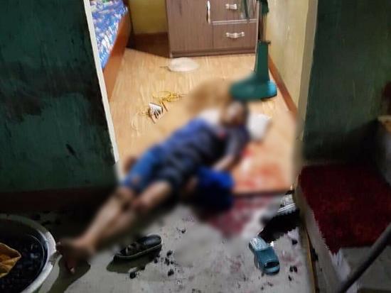 Hiện trường vụ nghịch tử dùng dao sát hại bố và anh vợ tại Quảng Ninh - Ảnh 1