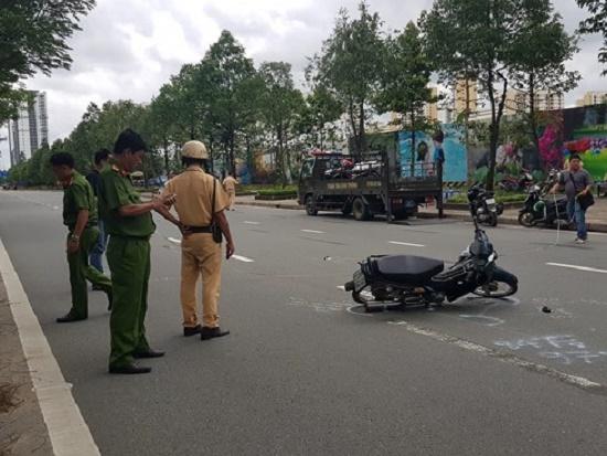 TP. HCM: Thiếu tá CSGT bị xe vi phạm tông trọng thương - Ảnh 1