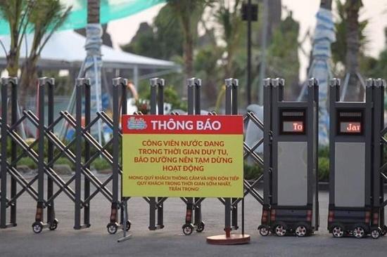 Tạm đình chỉ hoạt động công viên nước Thanh Hà sau vụ bé trai tử vong do đuối nước - Ảnh 1