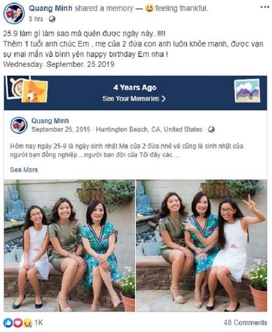 Dù đã ly hôn, Quang Minh vẫn không quên làm điều này trong ngày sinh nhật Hồng Đào - Ảnh 1