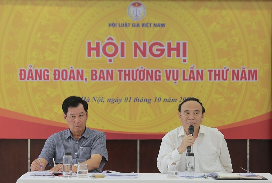 Hội nghị Đảng đoàn, Ban Thường vụ lần thứ 5 hội Luật gia Việt Nam - Ảnh 3