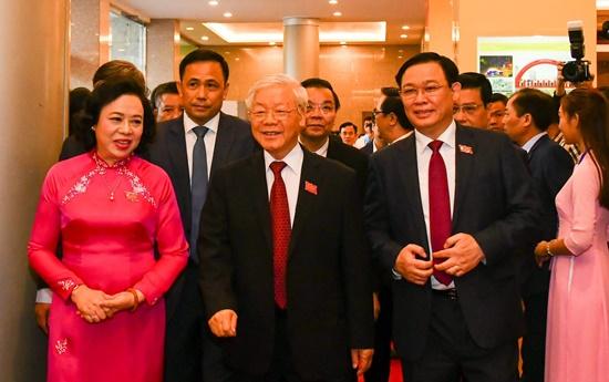 Chùm ảnh: Tổng Bí thư, Chủ tịch nước chỉ đạo Đại hội Đảng bộ Hà Nội - Ảnh 1