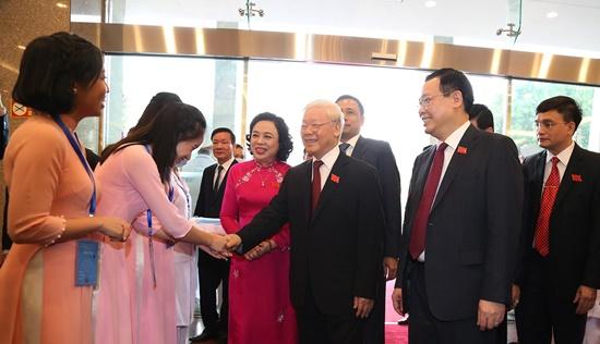 Chùm ảnh: Tổng Bí thư, Chủ tịch nước chỉ đạo Đại hội Đảng bộ Hà Nội - Ảnh 2