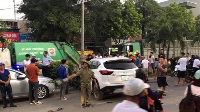 """Vụ xe """"điên"""" đâm liên hoàn 10 phương tiện, 1 người chết ở Hà Nội: Danh tính lái xe Mazda 18 tuổi - Ảnh 1"""