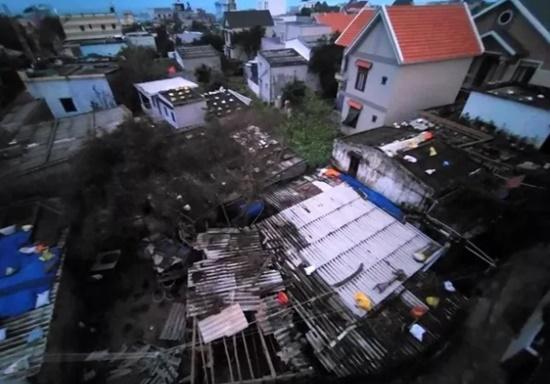 Cận cảnh sức phá hoại khủng khiếp của bão số 9 đổ bộ vào Quảng Ngãi: Cây xa la liệt đổ, thổi bay mái tôn - Ảnh 10