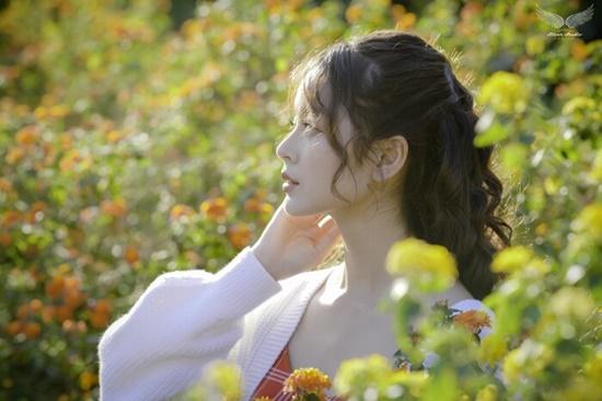 Nhan sắc ngọt ngào của nữ sinh học viện Tài chính giữa rừng hoa dã quỳ - Ảnh 5