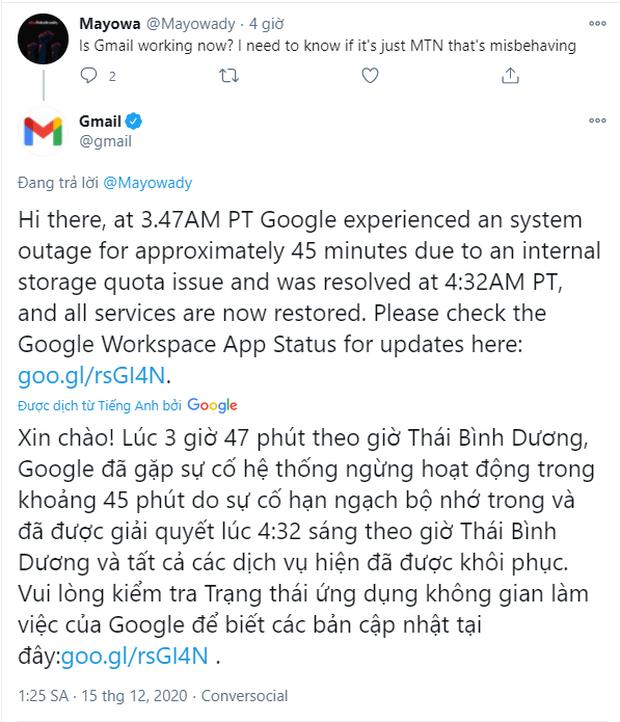"""Hé lộ nguyên nhân Google bị """"sập"""" diện rộng trên toàn cầu - Ảnh 2"""