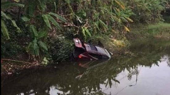 Danh tính đôi vợ chồng tử vong trong ô tô lao xuống ao ở Quảng Ninh - Ảnh 1