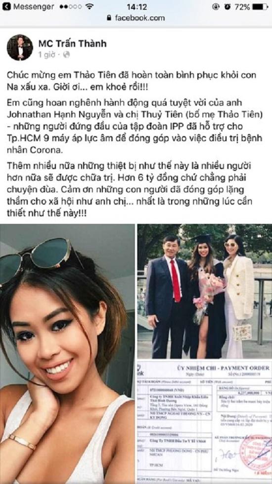 Hé lộ số tiền ông Johnathan Hạnh Nguyễn ủng hộ chống dịch Covid-19 - Ảnh 1