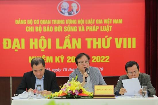 Nhà báo Nguyễn Tiến Thanh trúng cử Bí thư chi bộ báo ĐS&PL - Ảnh 2