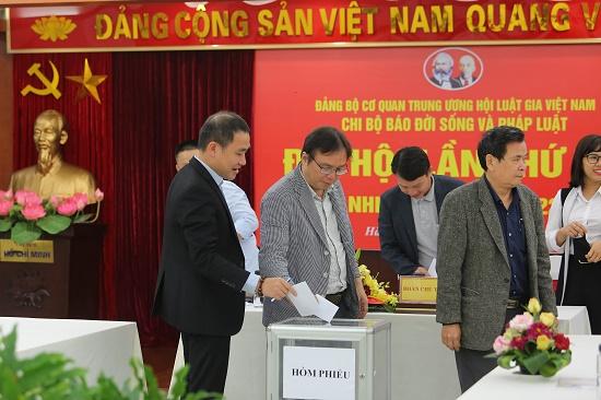 Nhà báo Nguyễn Tiến Thanh trúng cử Bí thư chi bộ báo ĐS&PL - Ảnh 3