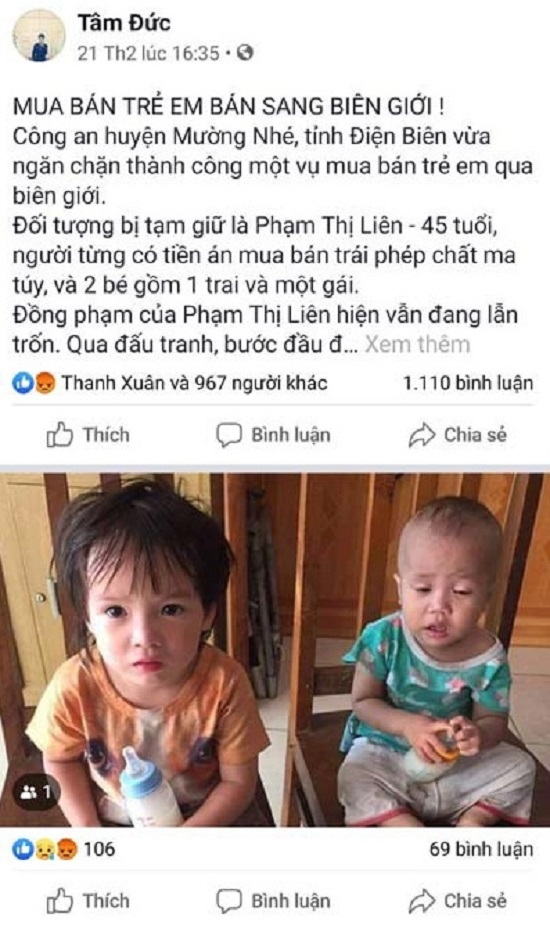 Sự thật về tin mua bán trẻ em qua biên giới ở huyện Mường Nhé - Ảnh 1