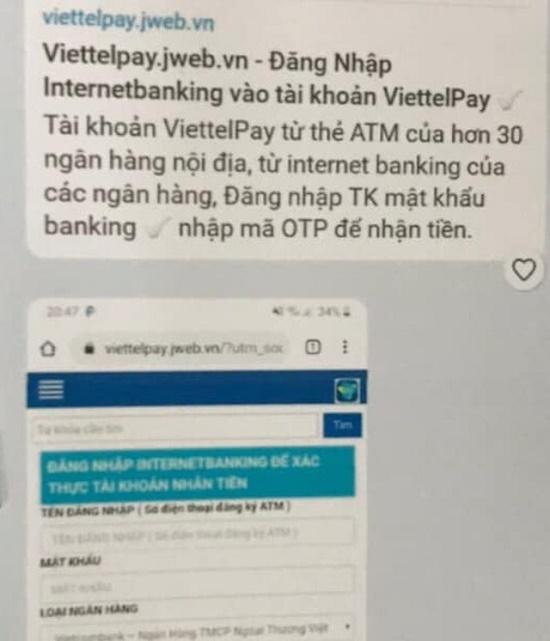 Công an TP.Hà Nội cảnh báo giả mạo ViettelPay để lừa đảo chiếm đoạt tài sản - Ảnh 1