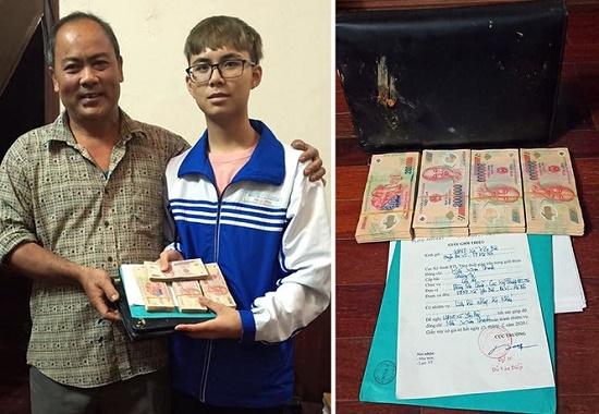 Hà Nội: Nhặt được túi đựng tiền, nam sinh lớp 10 trả lại cho thượng tá quân đội - Ảnh 1