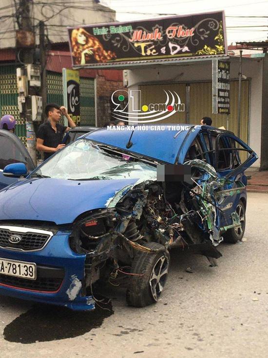 Nam Định: Ô tô va chạm kinh hoàng với xe ba bánh, 3 người bị thương - Ảnh 3