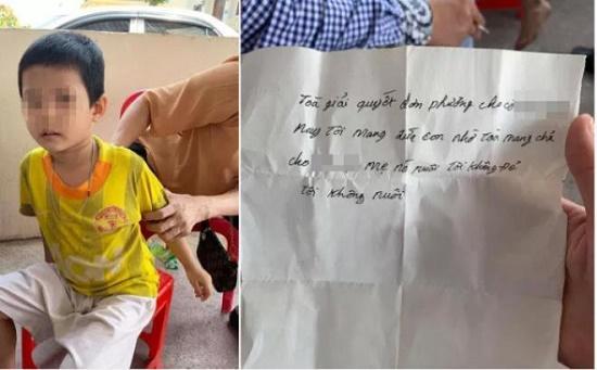 """Xót xa bé trai 5 tuổi bị bỏ rơi tại trụ sở tòa án kèm lời nhắn """"tôi không đẻ, tôi không nuôi"""" - Ảnh 1"""
