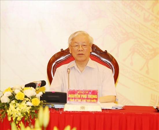 Tổng Bí thư, Chủ tịch nước dự Hội nghị Đảng ủy Công an Trung ương - Ảnh 5