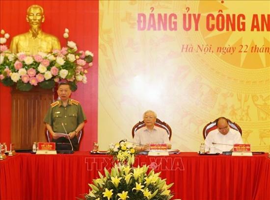 Tổng Bí thư, Chủ tịch nước dự Hội nghị Đảng ủy Công an Trung ương - Ảnh 6