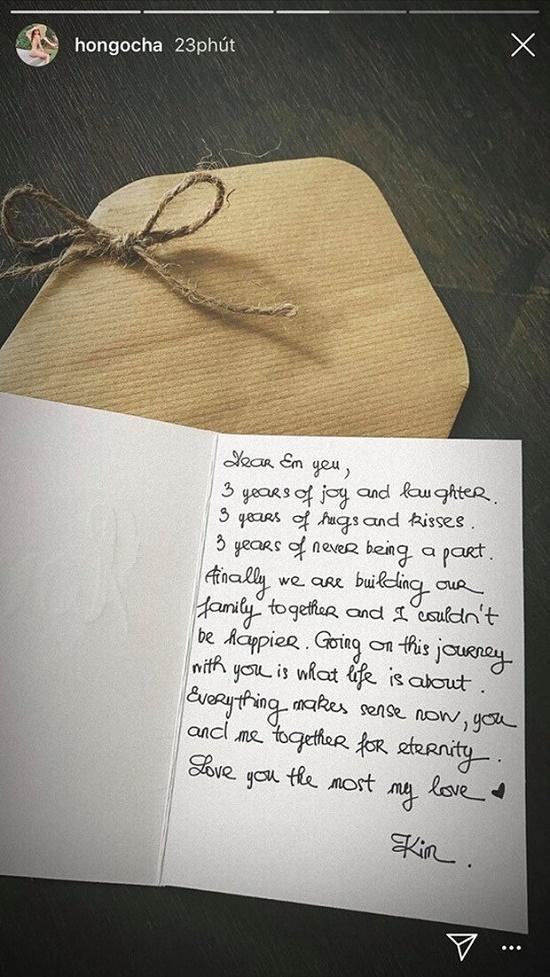 """Kim Lý gửi """"mật ngọt"""" tới Hồ Ngọc Hà nhân ngày kỷ niệm 3 năm yêu - Ảnh 1"""