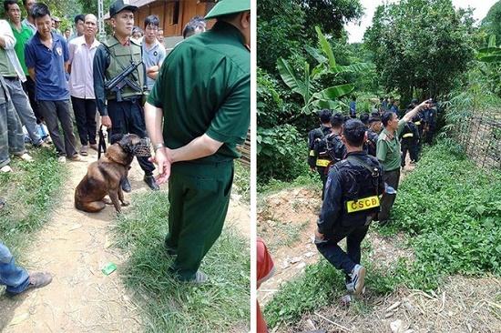 Huy động chó nghiệp vụ truy bắt nghi phạm sát hại hàng xóm ở Sơn La - Ảnh 1