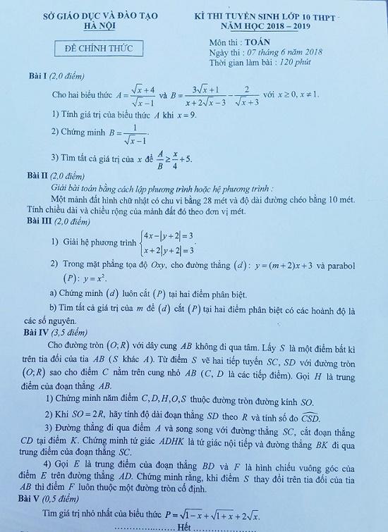 Thi vào lớp 10 THPT: Những dạng bài cơ bản thí sinh cần nắm rõ trong đề thi môn Toán - Ảnh 1