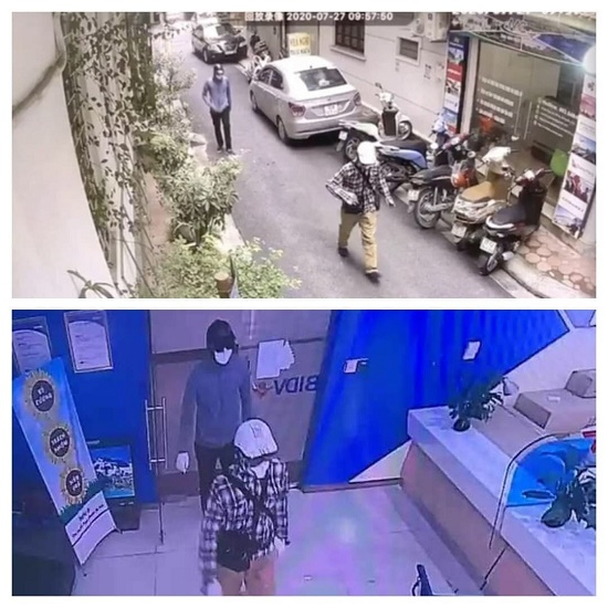Vụ nổ súng, cướp ngân hàng BIDV tại Hà Nội: Hai nghi phạm di chuyển từ đâu đến địa điểm gây án? - Ảnh 2