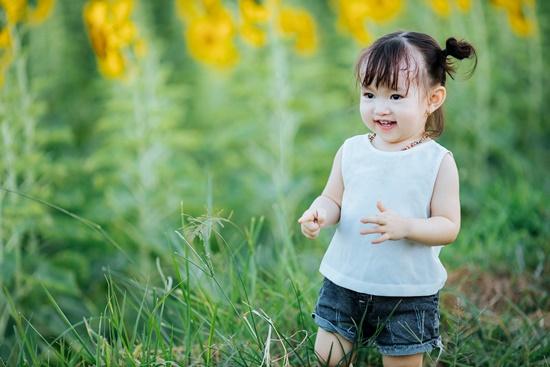 """Lịm tim trước khoảnh khắc em bé """"xinh đẹp tựa thiên thần"""" giữa cánh đồng hoa hướng dương - Ảnh 2"""