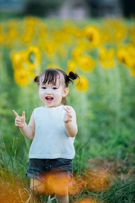 """Lịm tim trước khoảnh khắc em bé """"xinh đẹp tựa thiên thần"""" giữa cánh đồng hoa hướng dương - Ảnh 4"""