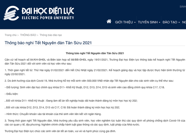 Một trường đại học ở Hà Nội lì xì mỗi sinh viên 500.000 đồng? - Ảnh 1