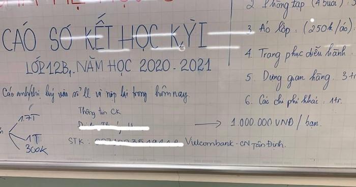 """Lạ lùng trường học thu 1,7 triệu tiền """"về đích"""" học sinh lớp 12: Hiệu trưởng nói gì? - Ảnh 1"""