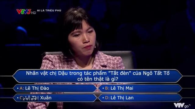 """""""Chị Dậu tên thật là gì?"""" - câu hỏi trong Ai Là Triệu Phú khiến người chơi """"đứng hình mất 5s"""" - Ảnh 2"""